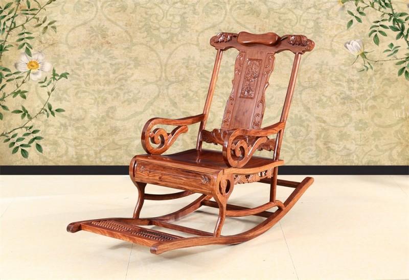 刺猬紫檀 豪华摇椅