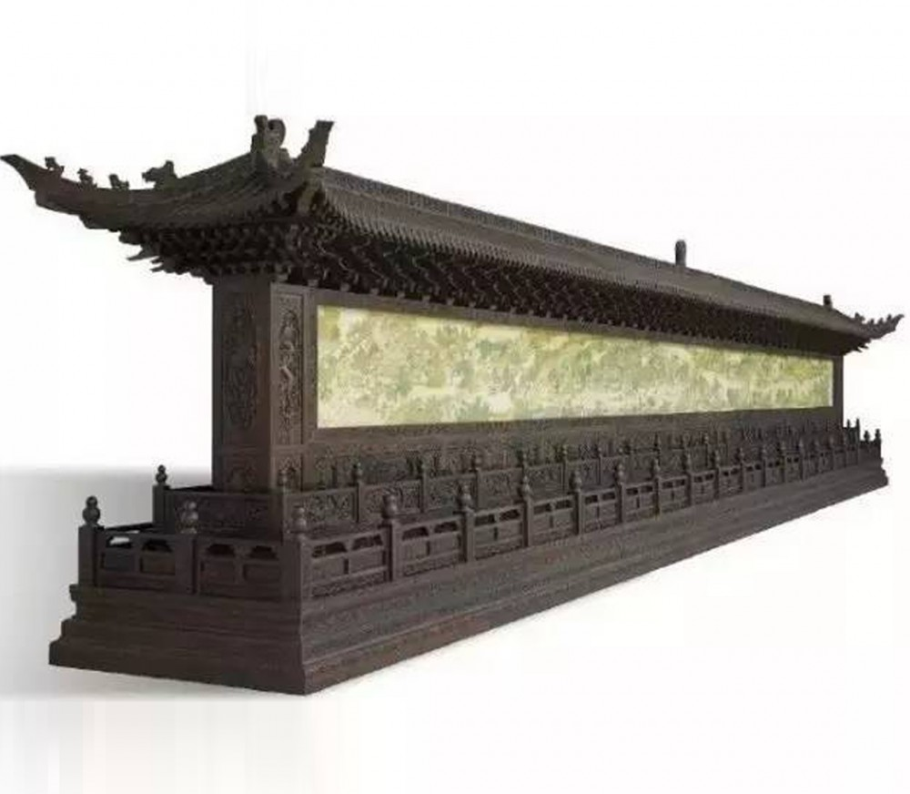 现代紫檀照壁--南京正大艺术馆