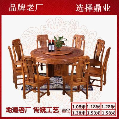 刺猬紫檀1.58米象头圆餐台