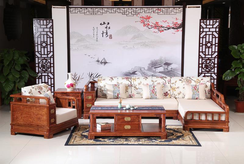 刺猬紫檀贵妃软体沙发